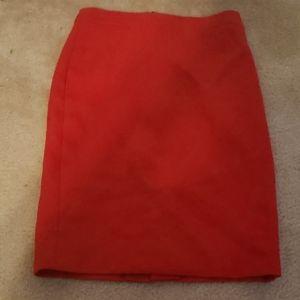 Holiday red pencil skirt j crew wool skirt sz 2